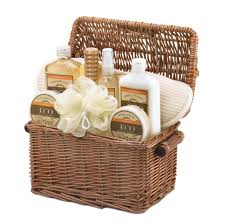 bath gift set spa basket wash makeup gift set women vanilla