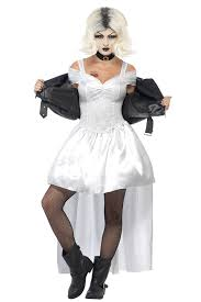 Ladies Halloween Costumes Uk Ladies Smiffy U0027s Bride Chucky Killer Doll Halloween Costume