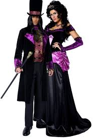 gothic halloween costumes couples gothic count u0026 countess fancy dress costume fancy me limited