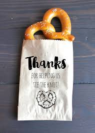 pretzel bags for favors tie the knot wedding favor bags pretzel favor favor bags