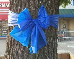 blue support ribbon blue ribbons to support nypd found throughout the borough silive
