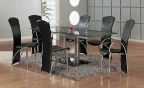 Formal Dining Room Table Sets Kitchen Awesome Round Glass Dining Table For 6 Modern Dining