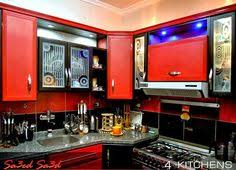 Red Kitchen Recipes - alumital modern kitchen in red and black colors stylishly home