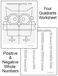 owl coordinate graphing ordered pairs quadrant four