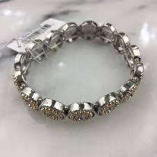 silver gold bracelet images Jewelry silver gold circle stretch bracelet nwt poshmark jpg