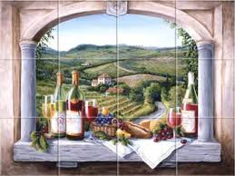 vineyard reverie kitchen tile backsplashes murals accent tiles