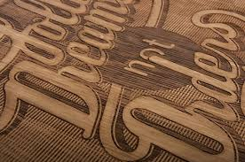 wood typography engraving on behance