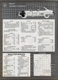 vintage review chevrolet citation x 11 gm x bodies technical