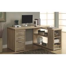 bureaux de travail bureau de coin à 3 tiroirs naturel bureaux et postes de travail