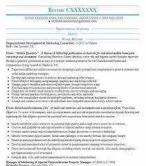 Digital Marketing Consultant Resume Best Organizational Development Resume Example Livecareer