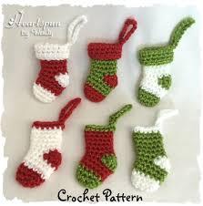 crochet pattern to make this mini christmas stocking ornament