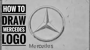 mercedes logo how to draw the mercedes logo with shading youtube