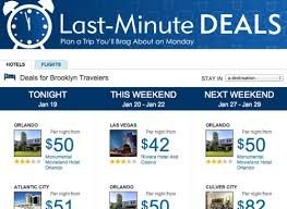 hotel deals expedia deals engine taps into user patterns for last minute deals