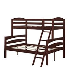 Amazoncom Dorel Living Brady Twin Over Full Solid Wood Kids - Replacement ladder for bunk bed