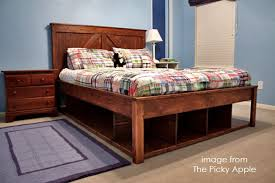 bedroom diy queen bed with storage plans bedrooms