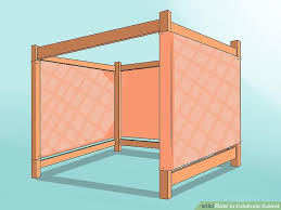 sukkah walls how to celebrate sukkot 15 steps with pictures wikihow