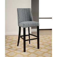 paramount pinstripe bar stool blue gray abbyson target