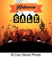 Halloween Sale Eps Vector Of Halloween Flash Sale Template With Bunting Or Banner