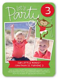 party monkey 5x7 custom birthday invitation shutterfly