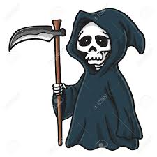 reaper clipart halloween skeleton pencil and in color reaper