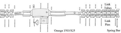 omega bracelet links images Pins tubes screws for omega seamaster speedmaster bracelets jpg