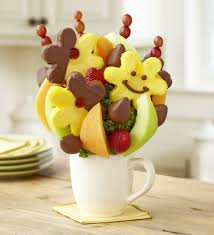 fruit bouque your best smile bouquet with chocolate by fruit bouquets