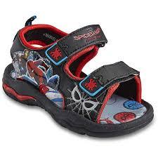 pj masks light up shoes spiderman infant boys light up sandals black big w