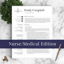 Best Resume Templates Etsy by Nurse Resume Template For Word U0026 Pages Medical Resume Nurse