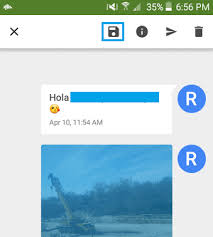 message android how to save photos from message on android phone