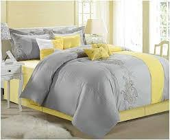 Grey And Yellow Comforters Bed Linen Stunning Yellow Comforters Queen Grey And Yellow
