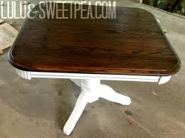Stained Coffee Table Lulu U0026 Sweet Pea Diy Refinished Oak Side Table Stained U0026 Painted