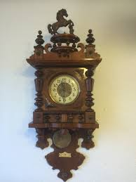 German Clocks Antique Wall Clock Made By German Manufacturer From 1900 U0027s By