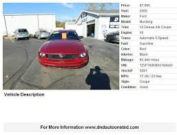 mustang 2005 mpg 2005 ford mustang deluxe 2dr coupe in onsted mi d d auto sales