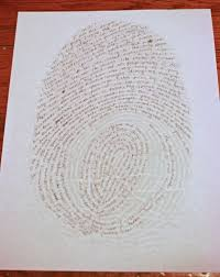 writing paper to print creative writing day 10 about me fingerprint cranial hiccups now all that is left to do is start writing write anything that comes to mind about yourself making sure you follow the lines of your fingerprint