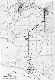 New Orleans Trolley Map by Photo Document Archives
