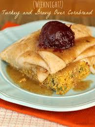 thanksgiving turkey sandwich recipe open faced thanksgiving turkey sandwich over cornbread the weary