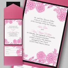 Wedding Invitations With Pockets Vintage Garden Wedding Invitations Pocket Little Flamingo