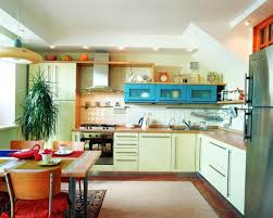 kitchen room design brown paint wooden kitchen cabinets door