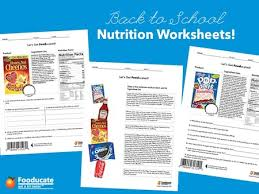 fun nutrition worksheets for kids teach your kids to read food