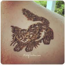 cute little kitty cat henna tattoo henna kellycaroline