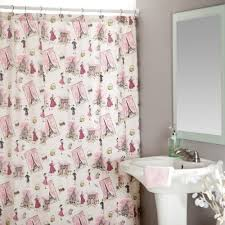 Pink Black And White Shower Curtain Pink Shower Curtain By Inspirationzstore Light Pink Shower