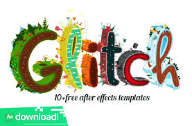 10 glitch logo reveals free after effects templates free after