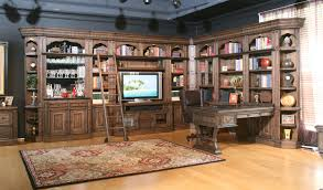 Bar Mirror With Shelves by Parker House Aria Library Complete Wall Unit With Mirror Backed