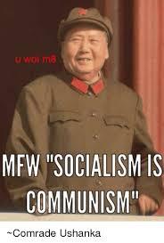 U Wot M8 Meme - u wot m8 mfw socialism is communism comrade ushanka mfw meme on