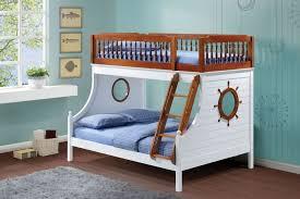 Bunk Bed Ladder Guard Acme 37600 Farah Oak White Ship Wheel Twin Full Metal Bunk Bed