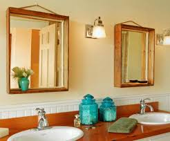 mirror decorate with rustic mirror frames amazing bathroom