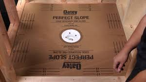 Ez Shower Pan by Perfect Slope Tile Shower Pre Slope Base Youtube