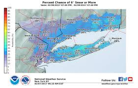 long island weather forecast snowfall estimate maps released for
