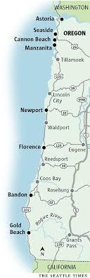 oregon coast map it s my to travel the oregon coast or