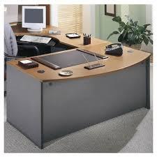 bush series a desk bush business series c left l shape executive desk in natural cherry